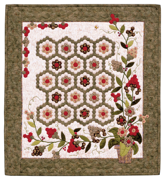 Martingale quilts from grandmother 39 s garden - Grandmother s flower garden quilt ...