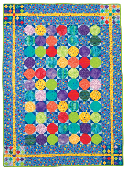 Snowball block quilt pattern from the book Snowball Quilts
