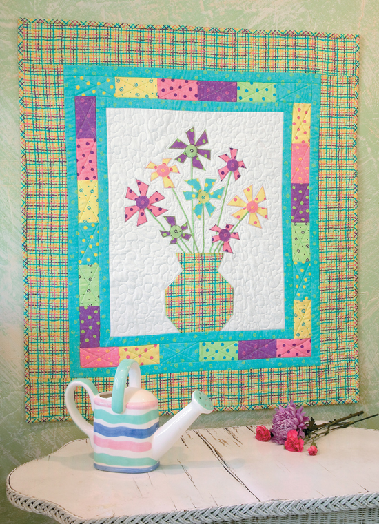 Daisy Power quilt from Best Wall Quilts
