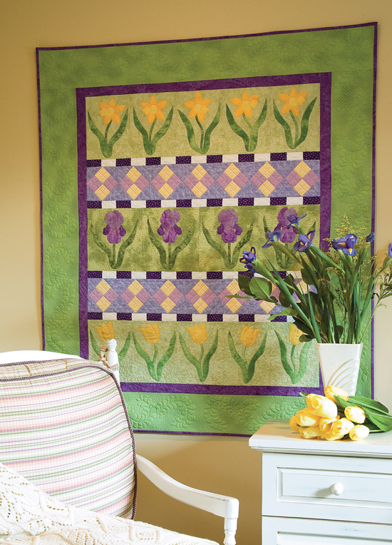 Iris and Friends quilt from Best Wall Quilts