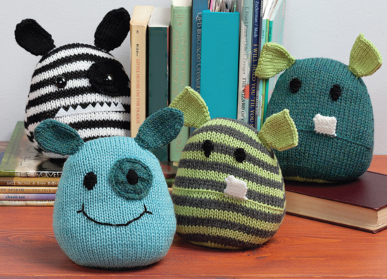 Monster bookends from Knit a Monster Nursery