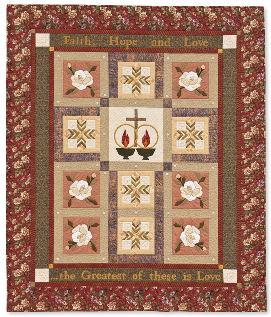 Embedded Cross of Love quilt