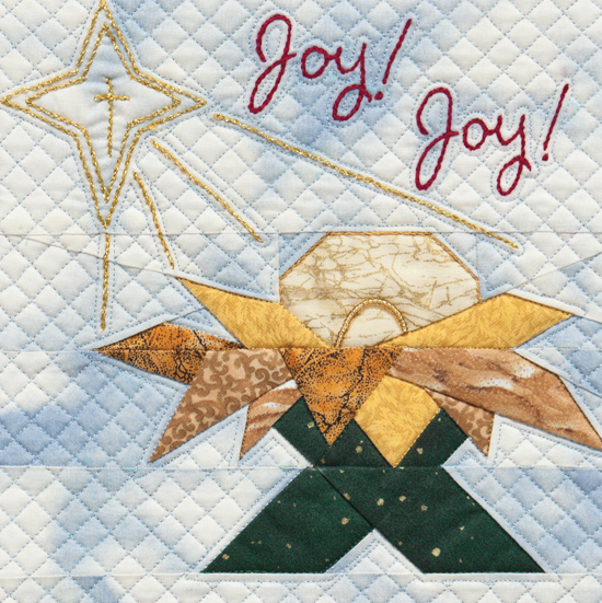 Nativity quilt block
