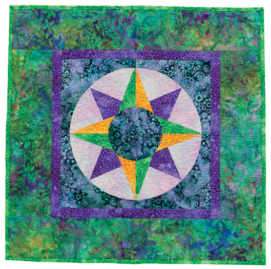 Beginner's Mariner's Compass quilt