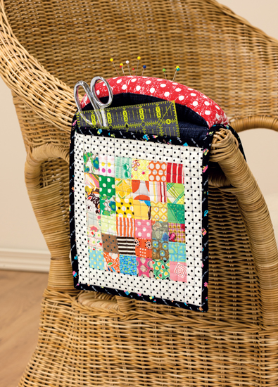 Armrest storage pocket from 25 Patchwork Quilt Blocks