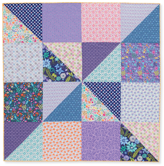 One-block quilt from Quilts Made with Love