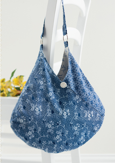 Crossed hobo bag from Sew Gifts!
