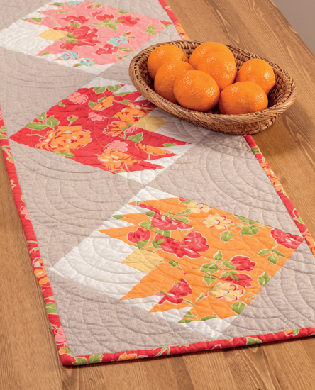 Spring Blooms table runner