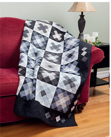 Great Mother/'s Day Gift for New Grandmas Toddler Ready to Ship! Rock /'n Rail Throw Quilt--Lap Baby Quilt-Contemporary Rail Style Quilt