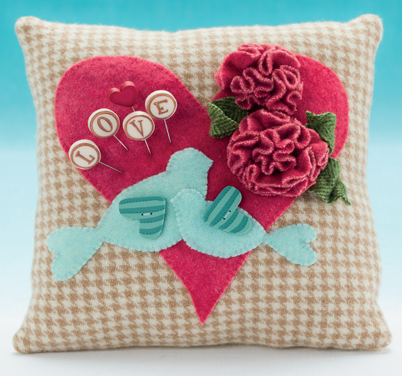 Romance pincushion from Pincushion Appeal