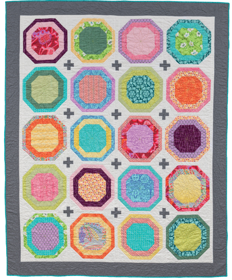 Colorful fat quarter quilt from Easy Weekend Quilts