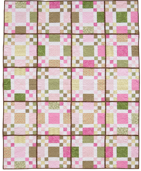Pink fat quarter quilt from Easy Weekend Quilts
