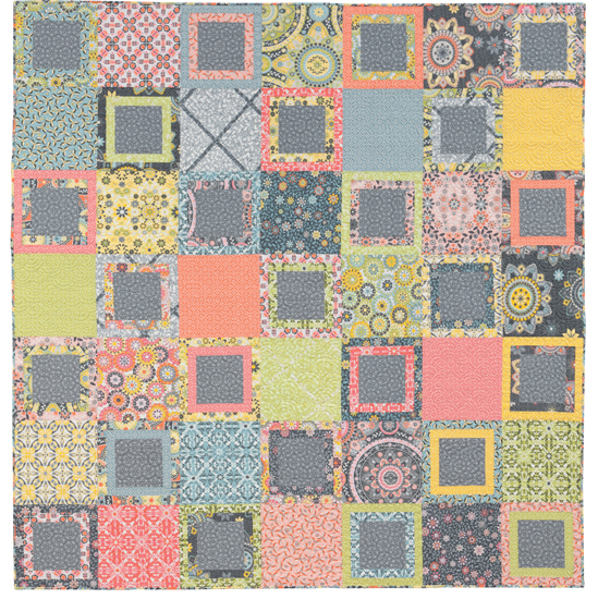 Modern fat quarter quilt from Easy Weekend Quilts