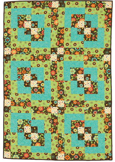 Simple patchwork quilt from Easy Weekend Quilts