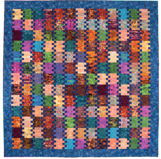Batik quilt from Easy Weekend Quilts