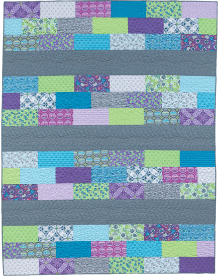 Quick row quilt from Easy Weekend Quilts