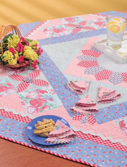 Garden Party Tablecloth and Napkins by Kari Ramsay