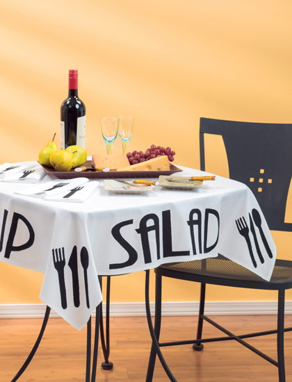 Bistro Tablecloth and Napkins by Melissa Corry