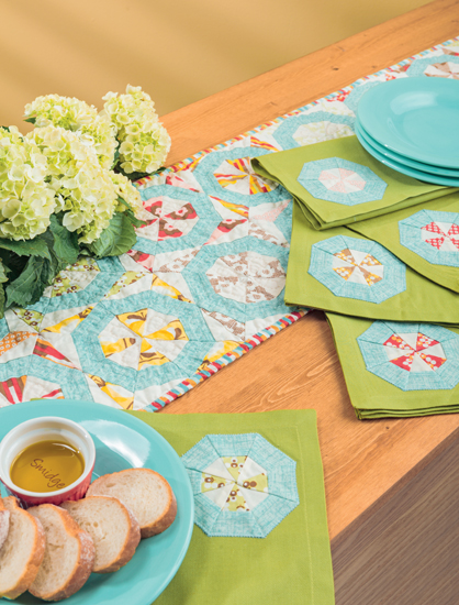 Cartwheels Table Runner and Napkins by Amy Ellis