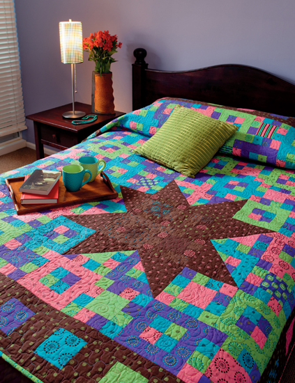 Scrappy star quilt from Double Take