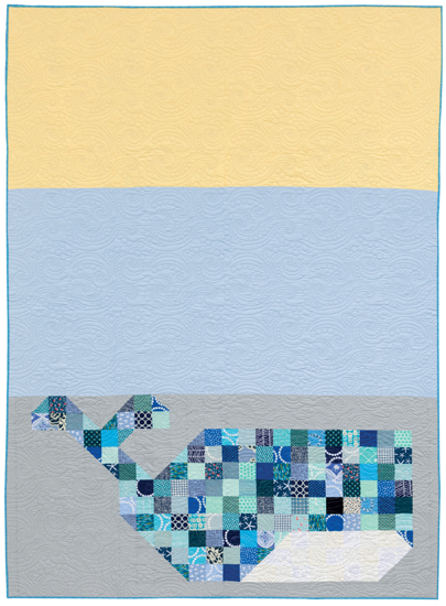 Patchwork Whale quilt from Imagine Quilts