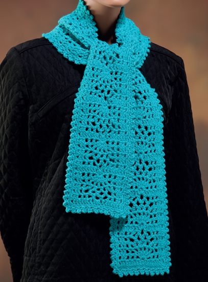 Lovely Lace crocheted scarf