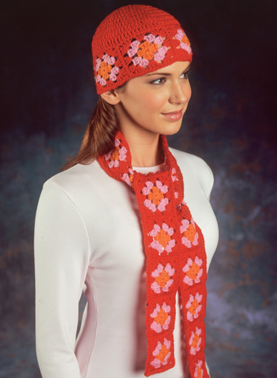 From Easy Crocheted Hats and Scarves