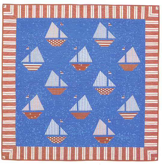 Sailboat quilt from Cottage-Style Quilts