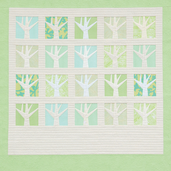 Tiny Textured Trees quilt by Carolyn Friedlander