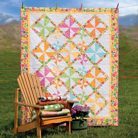 Lime Punch quilt by Sara Diepersloot