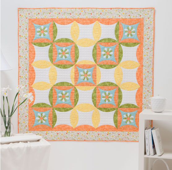 Delightful quilt from A Flair for Fabric