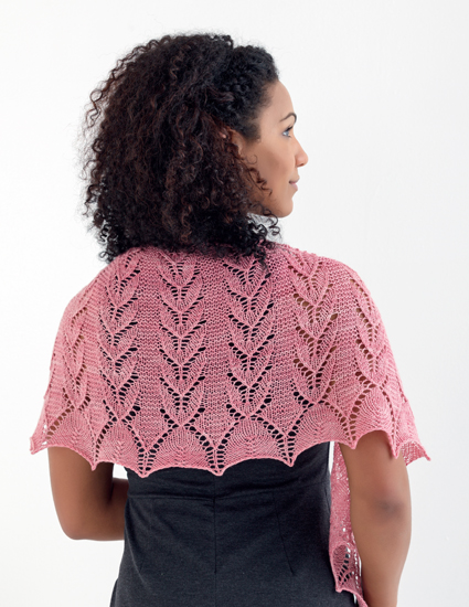 303743bbde54f1 Monarda (left) was born of a lace pattern I found in a stitch dictionary  many years ago. I made this top-down shawl specifically to show off that  beautiful ...