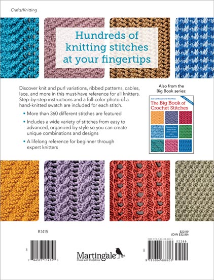 Martingale The Big Book Of Knit Stitches Print Version Ebook