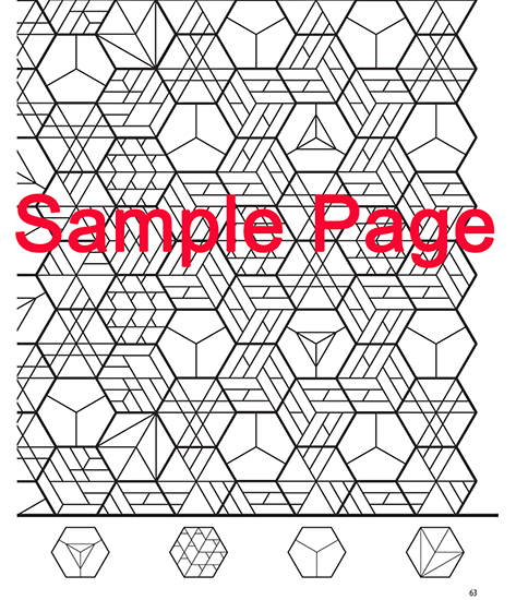 New Coloring Book : Martingale the new hexagon coloring book