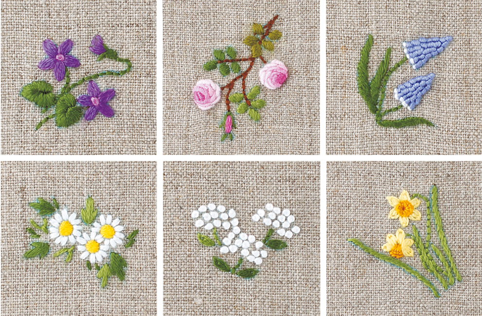 martingale floral motifs to embroider