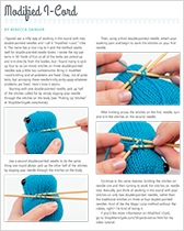 How to knit I-cord on two double-point needles