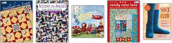 Quilting, sewing, crochet and knitting books just $6