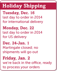 Holiday 2014 shipping deadlines
