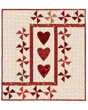 Three of Hearts Wall Quilt ePattern