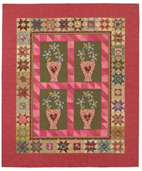 Martingale - Double-Pink Blooms Quilt ePattern