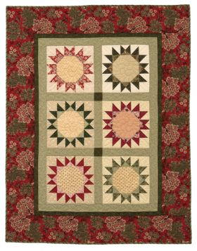 Martingale - Christmas Star Wreath Lap Quilt ePattern