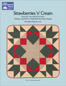 Martingale - Strawberries 'n' Cream Quilt ePattern