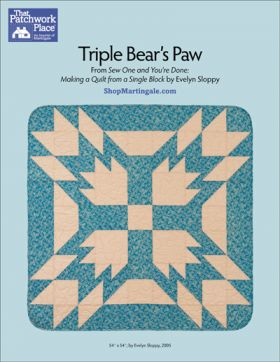 Martingale - Triple Bear's Paw Quilt ePattern