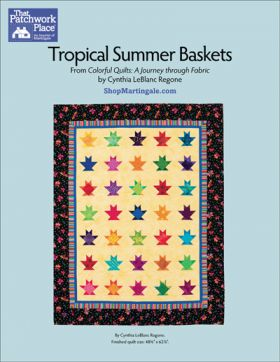 Martingale - Tropical Summer Baskets Quilt ePattern