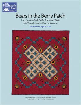 Martingale - Bears in the Berry Patch Quilt ePattern
