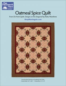 Martingale - Oatmeal Spice Quilt ePattern