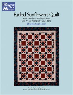 Martingale - Faded Sunflowers Quilt ePattern