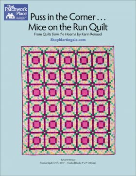 Martingale - Puss in the Corner . . . Mice on the Run Quilt ePattern