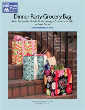 Martingale - Dinner Party Grocery Bag ePattern