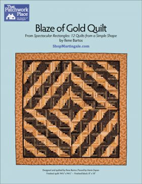 Martingale - Blaze of Gold Quilt ePattern